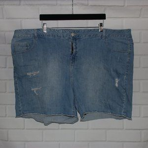 Lane Bryant Sz 28 Stretch Denim Blue Jean Shorts